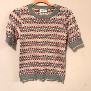 Rd style patterned grey pink top size SP